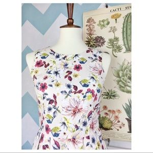 ModCloth Linen Dress So Very Fauna You Wildflowers